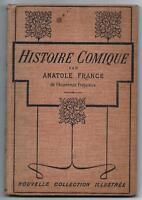 histoire comique -livre dédicacé par anatole france - edition originale