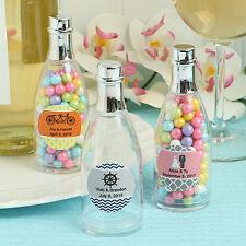 100 Personalized Champagne Bottle Wedding Party Shower Event Favor Bulk Lot