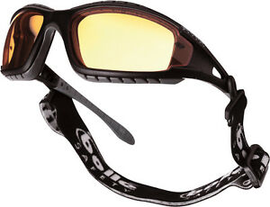 Bolle Tracker II Safety Glasses Goggles - Anti Mist & Scratch - Yellow TRACPSJ