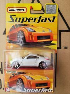 MATCHBOX SUPERFAST 2005 - NISSAN 350Z [WHITE] CAR NEAR MINT VHTF CARD EXCELLENT
