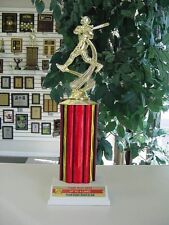 Little League Softball Trophies Trophy Award Team Color Added to Plate! 13""