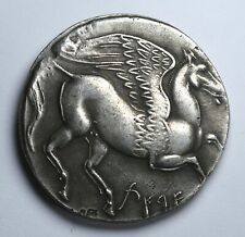 LARGE Carthaginian 5 Shekel Coin with Tanit and Pegasus. Greek Carthage 4cm 30g.