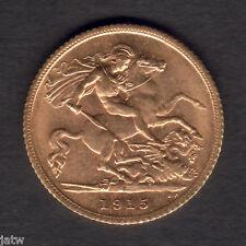 Australia.  1915 Sydney - Half Sovereign..  Much Lustre..  gEF