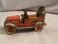 MADE IN WEST GERMANY WIND UP FIRE TRUCK