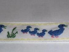 Posamentenborte Borte Band Enten Familie hochwertig gewebt Meterware 23mm breit
