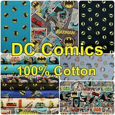DC Cotton Fabric Batman Bruce Wayne Bat Sign 100% Cotton Patchwork Material