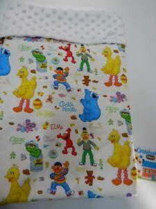 Baby Blanket Sesame Street Bassinet Capsule Moses Basket Minky Back
