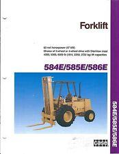 Fork Lift Truck Brochure - Case - 584E 585E 586E (Lt277)