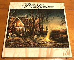 """RoseArt 750 Piece Jigsaw Puzzle """"Autumn Evening""""-Terry Redlin- Puzzle Collection"""