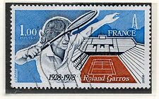 TIMBRE FRANCE OBLITERE N° 2012 TENNIS ROLLAN GARROS / Photo non contractuelle