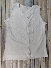 Men's Body Shaper Slimming Compression Sauna Vest Elastic zippered Shapewear