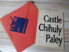 Wendell Castle Time and Defiance of Gravity 1986 / Chihuly Paley Castle Brochure