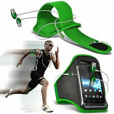 Sports Gym Fitness Armband Case Cover & Handsfree For BLU Deco Pro