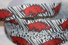 """Arkansas inspired 7/8"""" Grosgrain Ribbon (Stripes) - By The Yard - USA Seller"""
