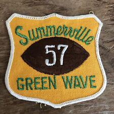Vintage 1960s Summerville High School Green Wave Football Patch South Carolina