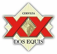Dos Equis Cerveza Mexican Beer Adult Drink Decal Sticker 2 Pack of 4""
