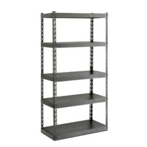 Gladiator Garage Shelving Unit Steel Frame Adjustable Free Standing (5-Shelf)