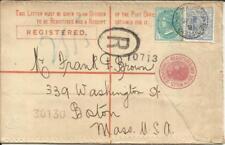 New South Wales Registered Postal Envelope Hg:C12a uprated Sg#313,#315