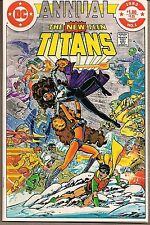 """NEW TEEN TITANS ANNUAL #1 DC 1982 BOOK LENGTH """"FINAL CONFLICT"""" GEO PEREZ ART NM-"""