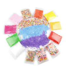 15Pack Colorful  Foam Floam Beads Slime Tools and Fruit Slice for Homemade UK