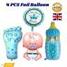 4Pcs Baby Shower Boy Foil Helium Balloon For Newborn Christening Birthday Party