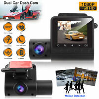Dual 1080P  Dash Cam  Car DVR Front & Inside Camera Video Recorder  Night Vision