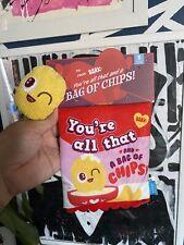 BARKBOX Small SMITTEN CHIPS ALL THAT Potato Chips Bag Dog Toys New!  Bark Box