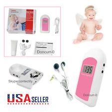 FDA Pregnatal Fetal Doppler Heart Rate Monitor Baby Fetus Sound Recorder,Gel