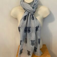 More details for patterdale terrier dog print ladies scarf new design shawl patterdale gift