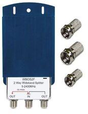 Labgear wbos 2F 2 vie Splitter Antenna TV per esterno e spine F