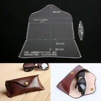 Leder Handwerk Sonnenbrillen Tasche Tasche Brillenetui Acryl Schablone Vorlage