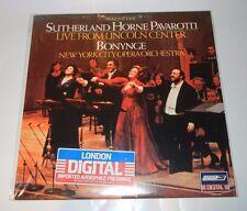 SUTHERLAND HORNE PAVAROTTI LIVE FROM LINCOLN CENTER IMPORT VINYL LP RECORD NEW