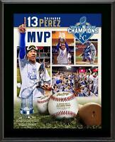 """Salvador Perez KC Royals 2015 MLB WS Champs 10.5"""" x 13"""" WS MVP  Plaque"""