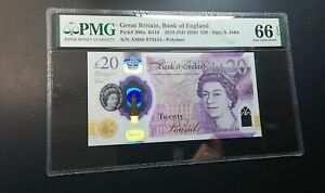2018 Great Britain £20 P-396a PMG 66 EPQ Gem UNC