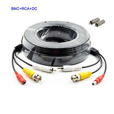 New listing 2x100ft/30M Audio Video Power Cable Security Camera Bnc Rca Cctv Dvr Wire Cord