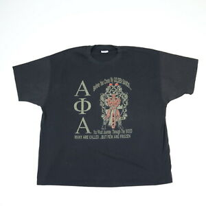 Vintage 90s Alpha Phi Alpha College Fraternity T-Shirt Faded Single Stitch 2XL