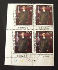 Congo-1977-Charles De Gaulle-Block of 4-Used