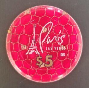 1999 Las Vegas PARIS HOTEL CASINO $5.00 Roulette Jeton
