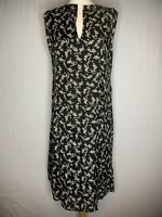 Masai Black & White  Ditsy Print Floral Dress Size L ( H2 )