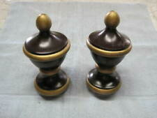 Large Wood Finials. 8 inch. accepts 3 inch rod or base.drapes,stairs, art