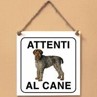 Korthals 1 Attenti al cane Targa cane cartello ceramic tiles