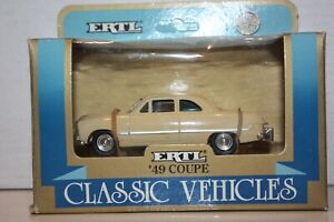 ERTL 1:43 Scale Ford '49 Coupe in Cream (Classic Vehicles Collection #2803)