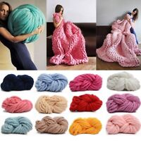 Bulky Arm Knitting Wool Chunky Wool Yarn Super Soft Wool Roving Crocheting DIY