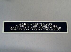 Jake Arrieta Chicago Cubs Engraved Nameplate For A Baseball Bat Case 1.5 X 8