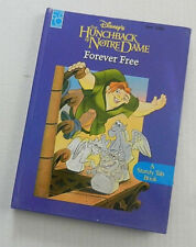 Disney Book Hunchback of Notre Dame Forever Free 1996 Hardcover Tab Book