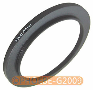 55mm to 67mm 55-67 mm Step Up Filter Ring  Adapter