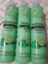 3 bottles Shampoo Bergamot  with Keratin 16.23 fl oz ea.  Made Mexico Plantimex