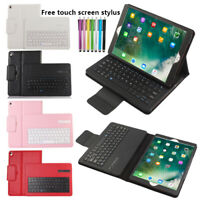 Wireless Bluetooth Keyboard Folio Leather Case Smart Stand Cover For iPad 9.7 ""