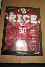 San Francisco 49ers Jerry Rice Retirement Poster 24 X 18 Jerry Rice Canvas
