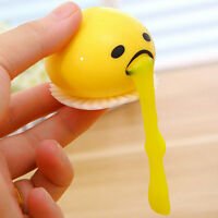 Yellow Vomiting & Sucking Lazy Egg Vent Stress Relief Egg Yolk Toy Gift Cool GD